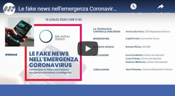 Le fake news nell'emergenza coronavirus – VIDEO